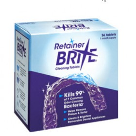 Retainer Brite Cleaning Tablets   Home   Denture Care   Denture Tablets & Cleansers   Other Products   Orthodontic Care