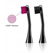 Curaprox Hydrosonic Black is White Replacement Brush Head Pack 2