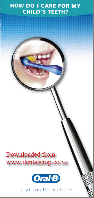 Oral B Childs teeth brochure